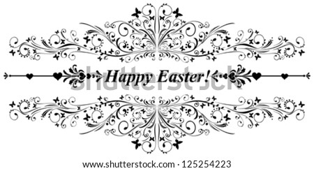 Happy easter! Vector illustration - stock vector