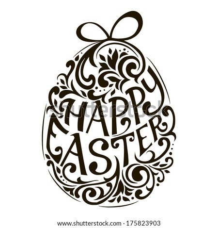 Happy Easter / Vector lettering - stock vector