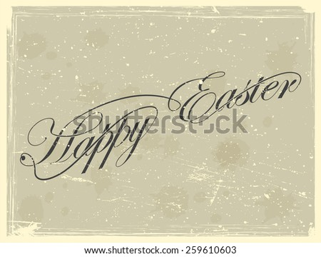 Happy Easter Vector Vintage Card Background . - stock vector