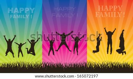 Happy family concept. - stock vector