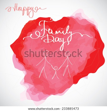 Happy Family Day Cards Happy Family Day Greeting Card