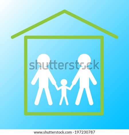 Happy family. Family and home. Vector illustration - stock vector