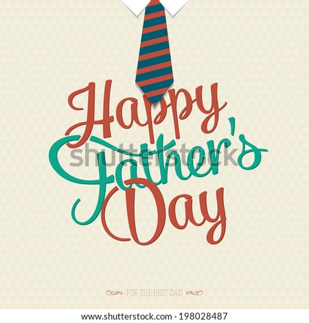 Happy father's day greeting card design. Vector illustration - stock vector