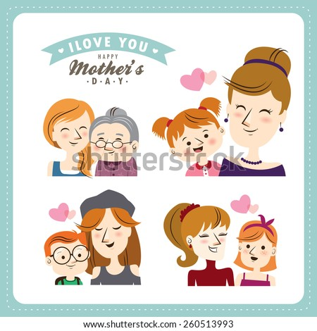 Happy Father's Day. People character design. - stock vector