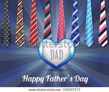 Happy Father's Day Vector Design - stock vector