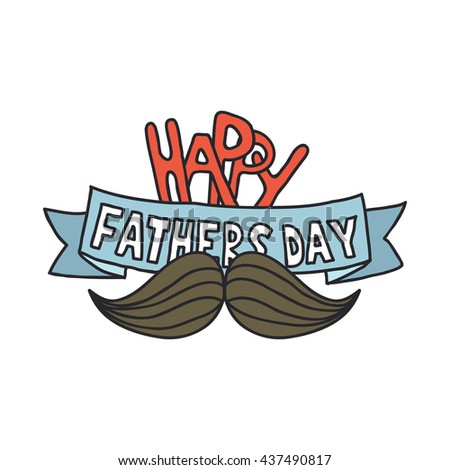 happy fathers day. doodle design - stock vector
