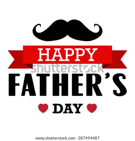 Happy fathers day vintage retro type font.Illustrator eps10 - stock vector