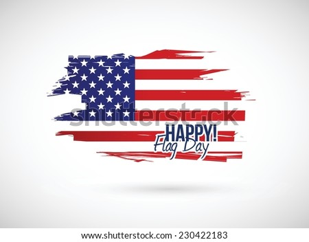 happy flag day illustration design over a white background - stock vector