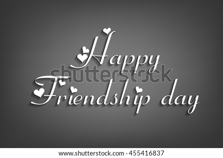 happy friendship day text - stock vector