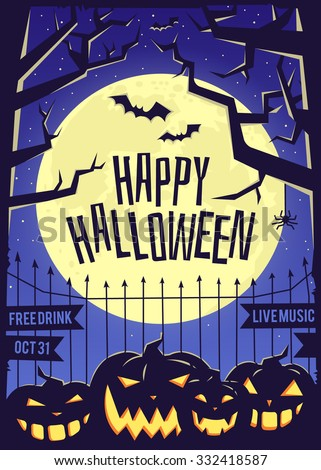 Happy Halloween. - stock vector