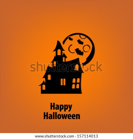 Happy Halloween background greeting card - stock vector
