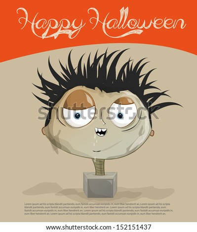 Happy Halloween Card - stock vector
