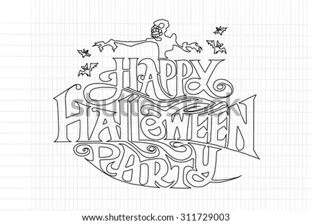 Happy Halloween message design background, vector illustration - stock vector