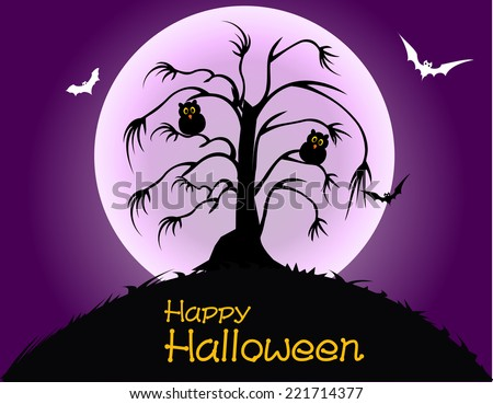 Happy Halloween Party Poster - stock vector