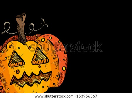 Happy Halloween pumpkin face lantern holiday icon illustration.  EPS10 vector file organized in layers for easy editing. - stock vector