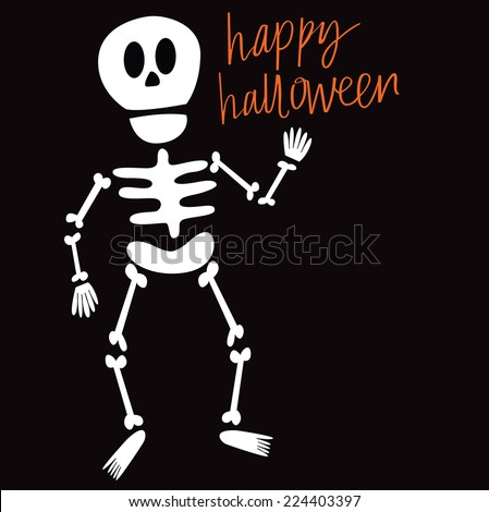Happy Halloween Skeleton - stock vector