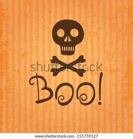 Happy Halloween. Skull and crossbones. Vector illustration. - stock vector
