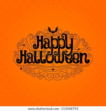 Happy Halloween Typography banner - stock vector