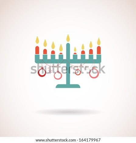 happy hanukkah, jewish holiday - stock vector