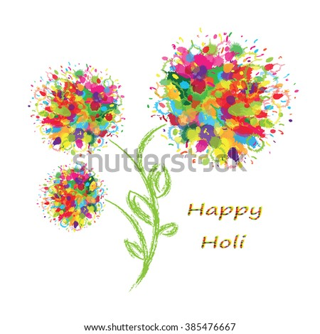 Happy Holi colorful background.  - stock vector
