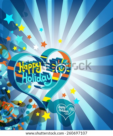 Happy Holiday  - stock vector