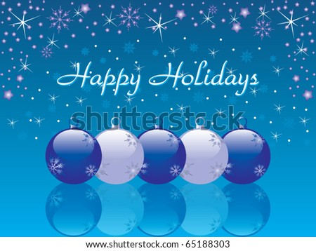 Happy holidays background vector - stock vector
