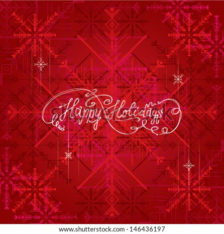 Happy Holidays Greeting - stock vector
