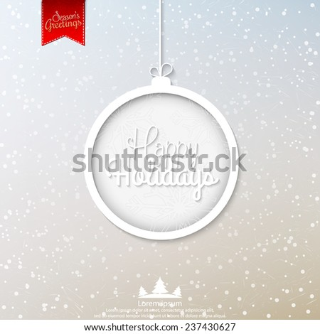 Happy Holidays vector illustration for holiday design, party poster, greeting card, banner or invitation. - stock vector