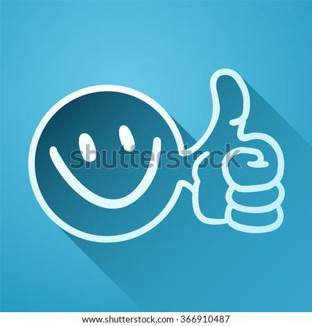 happy icon - stock vector