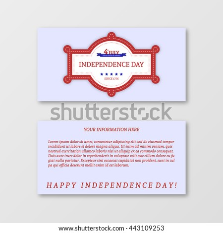 Happy independence day card United States of America. Paper design for 4th of July theme. Patriotic holiday banner. Vector illustration greeting cards - stock vector