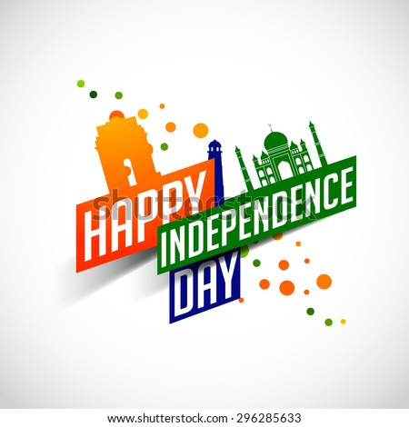 Happy Independence day India, Vector illustration, Flyer design for 15th August.  - stock vector