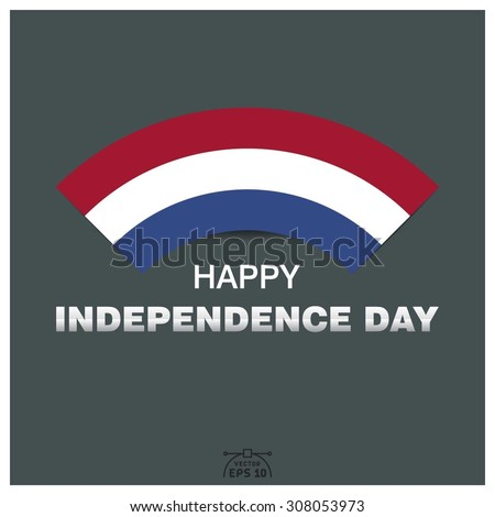 Happy independence day of Netherlands - stock vector