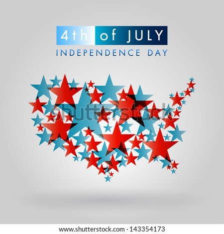 Happy independence day United States of America, 4th of July - stock vector
