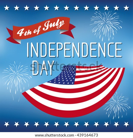 Happy independence day United States of America, 4th of July. - stock vector