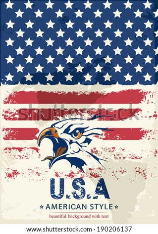 Happy Independence Day United States of America. Vector illustration 8 eps - stock vector
