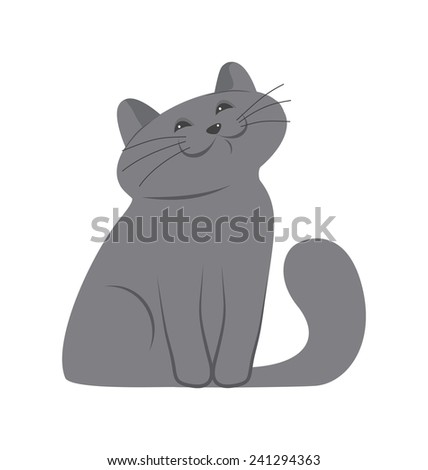 happy kitten - stock vector