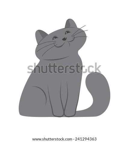 happy kitten - stock vector