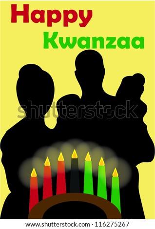 Happy Kwanzaa card - stock vector