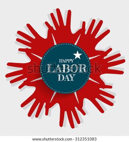 Happy Labor day card design, vector illustration. - stock vector
