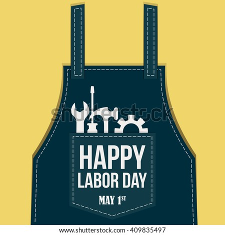 Happy Labor day Greetings Cards / Labor day design / Labor Day logo Poster, banner, brochure or flyer design - stock vector