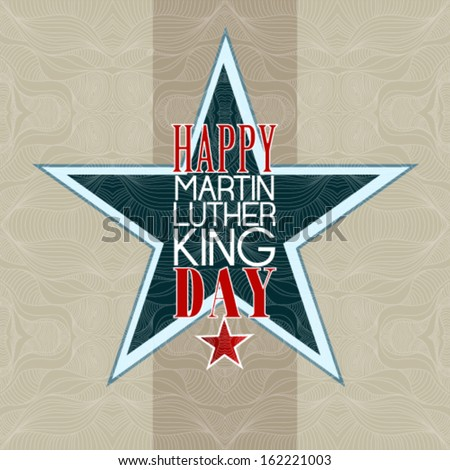 Happy Martin Luther King Day american - stock vector