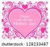 Happy Mother's Day! Greeting card. Vector Illustration - stock vector