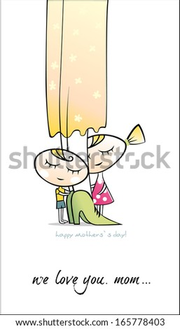 Happy Mother`s day. Vector - stock vector