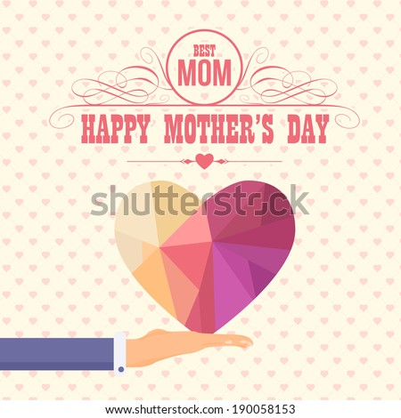 Happy Mother's Day Vector Design. Announcement and Celebration Message Poster, Flyer  - stock vector