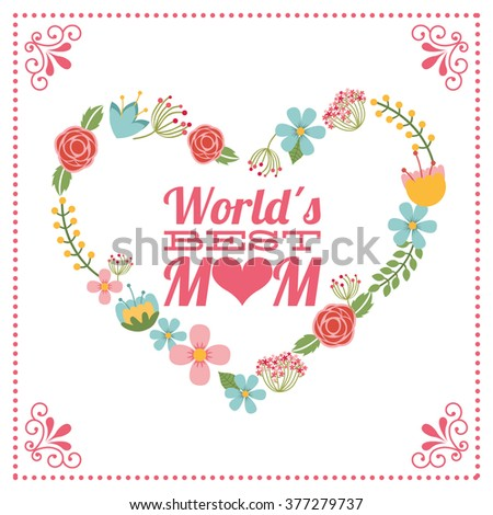 happy mothers day  - stock vector