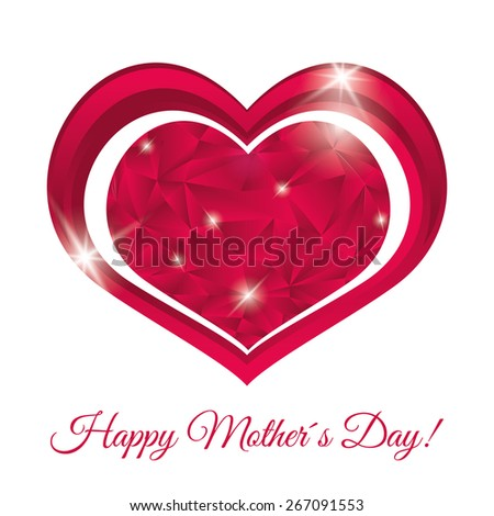 Happy mothers day card design, vector illustration. - stock vector