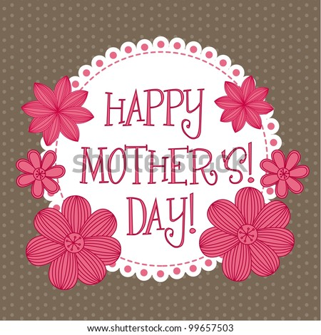 happy mothers day, cute background. vector illustration - stock vector