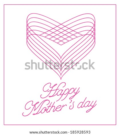 Happy Mothers's Day lettering background. - stock vector