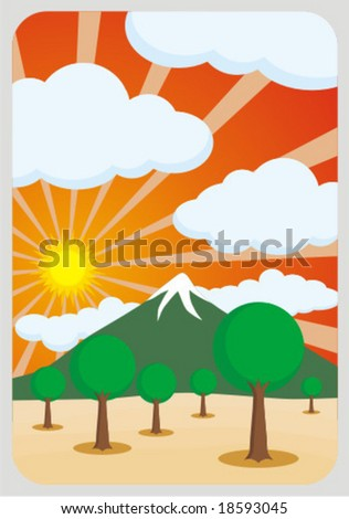 HAPPY NATURE - stock vector