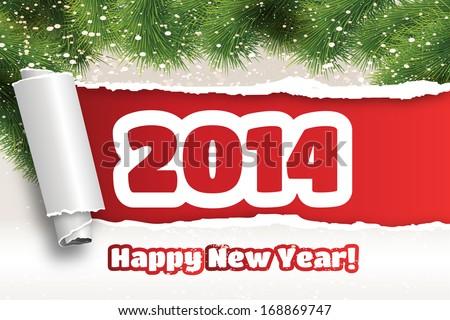Happy New Year 2014 - stock vector